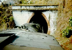 Loco emerging from tunnel